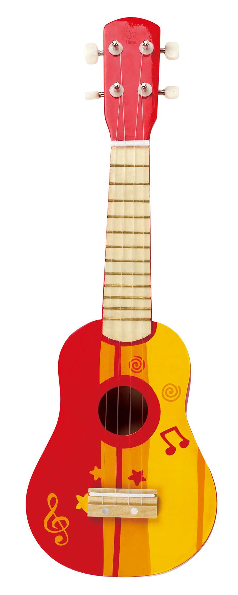 hape red ukulele musical instrument wooden toy gift learning baby toddler bni. Black Bedroom Furniture Sets. Home Design Ideas