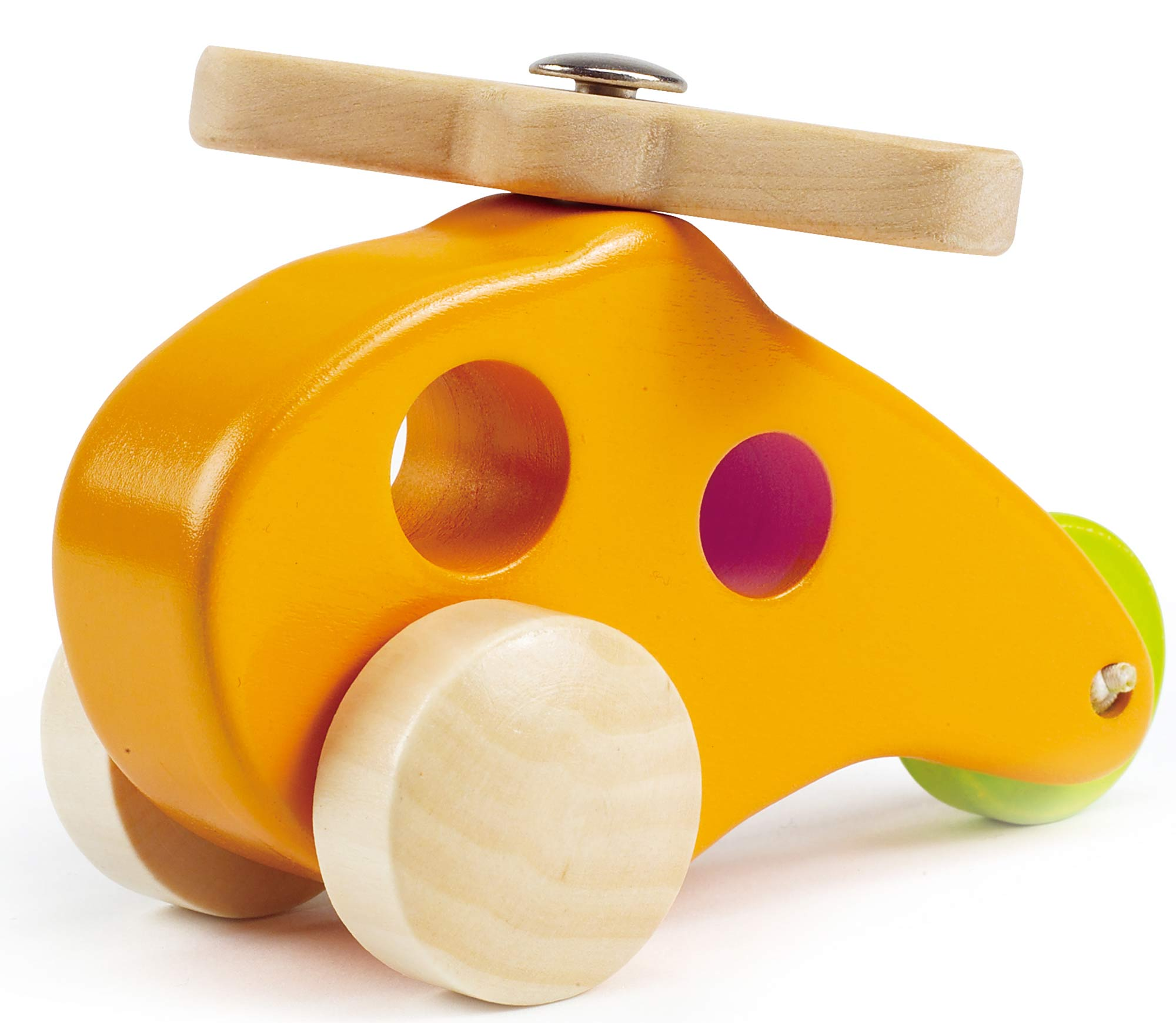 Hape LITTLE COPTER Wooden Push Pull Along Toy Gift Baby Toddler