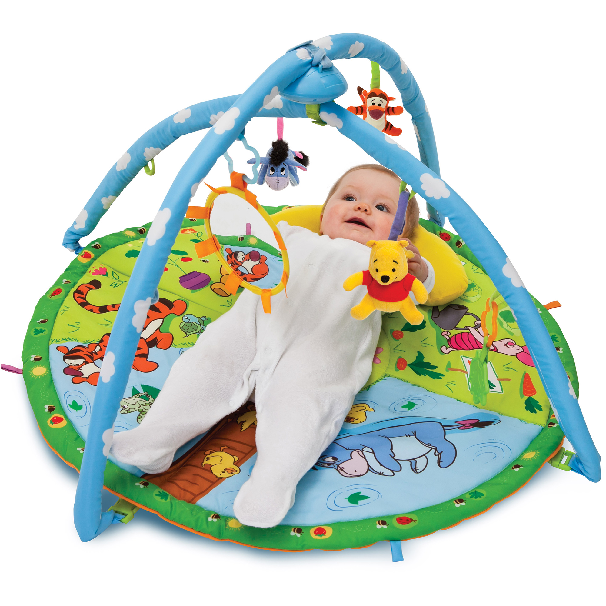 Tapis D 39 Veil Musical Winnie L 39 Ourson Tigrou Bourriquet Tomy Neuf Ebay