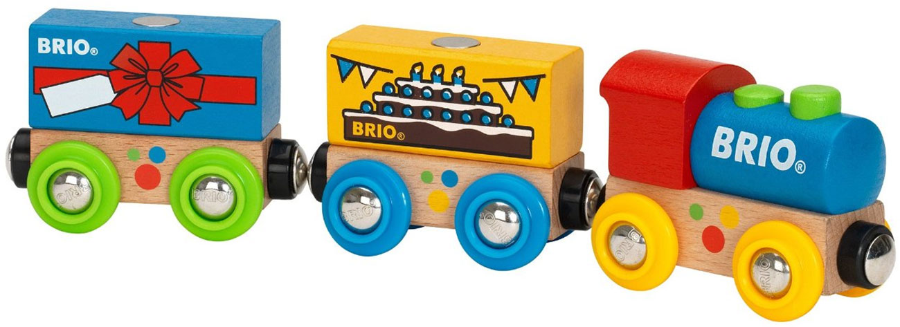 ... BIRTHDAY TRAIN Baby/Toddler/Child Wooden Magnetic Toy Train Set Tracks