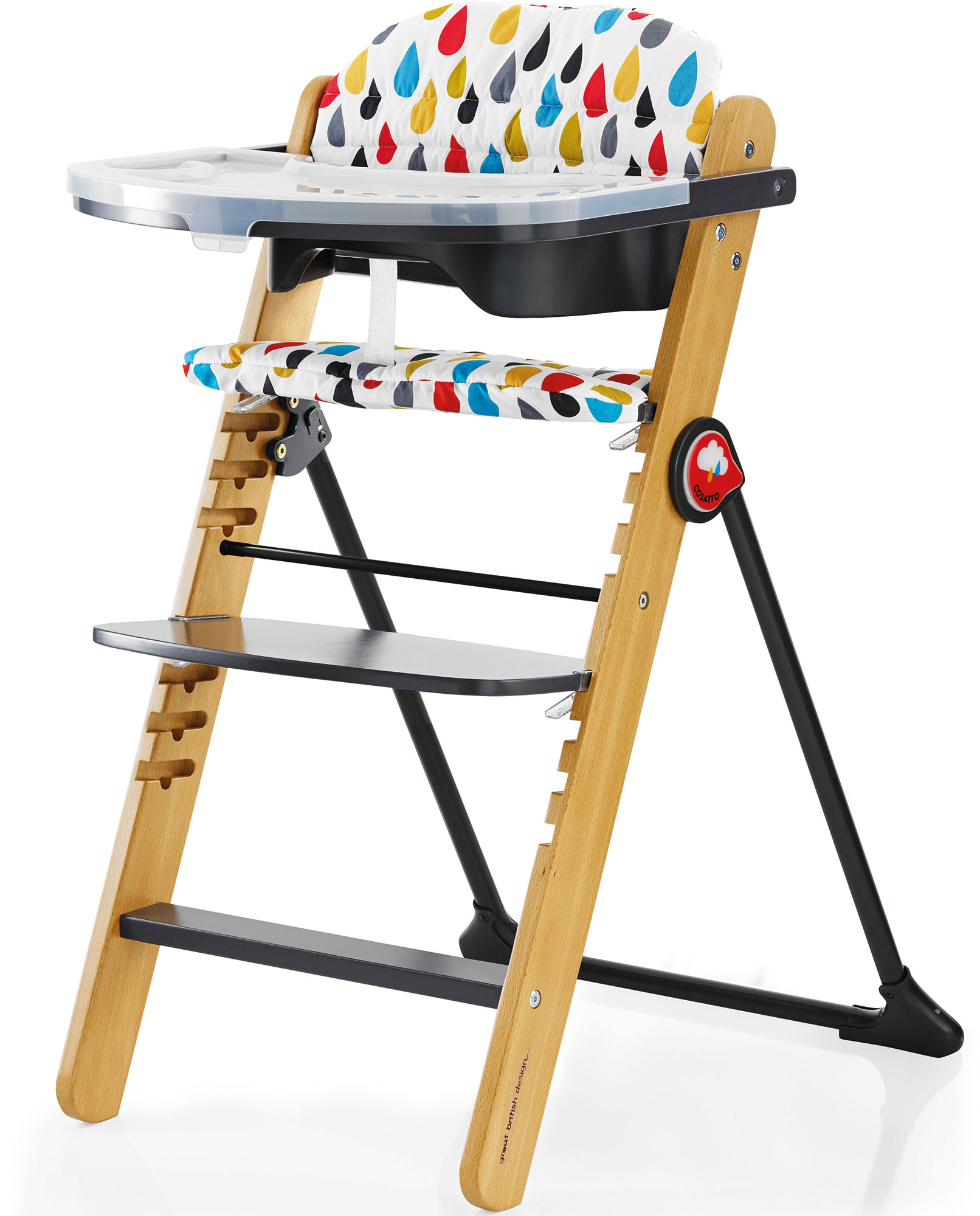 Cosatto Waffle Highchair Multi Position Wooden Feeding Toddler