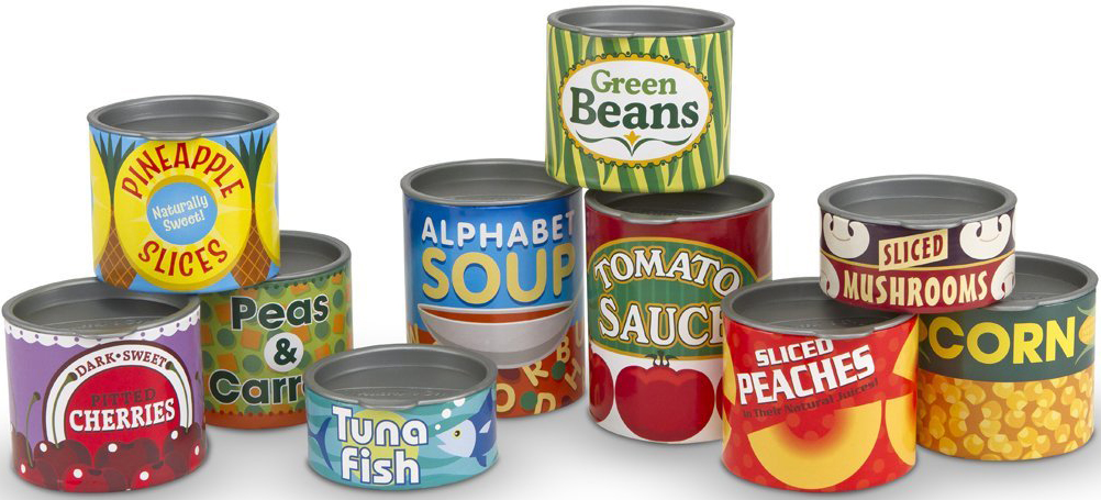 Melissa & Doug TINNED FOOD PLAY SET Role Play Toy/Gift Toddler ...