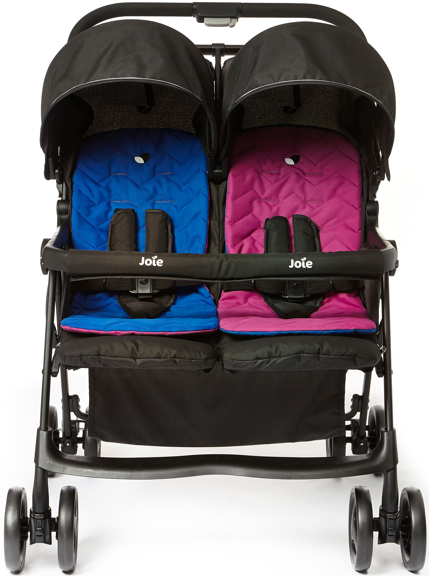 joie aire twin stroller pink blue double buggy baby. Black Bedroom Furniture Sets. Home Design Ideas