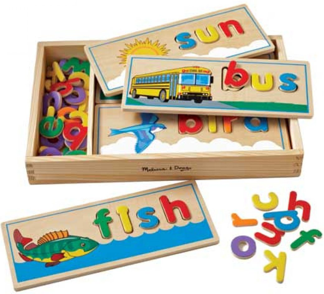 Melissa And Doug Educational Toys : Melissa doug see spell learning game wooden