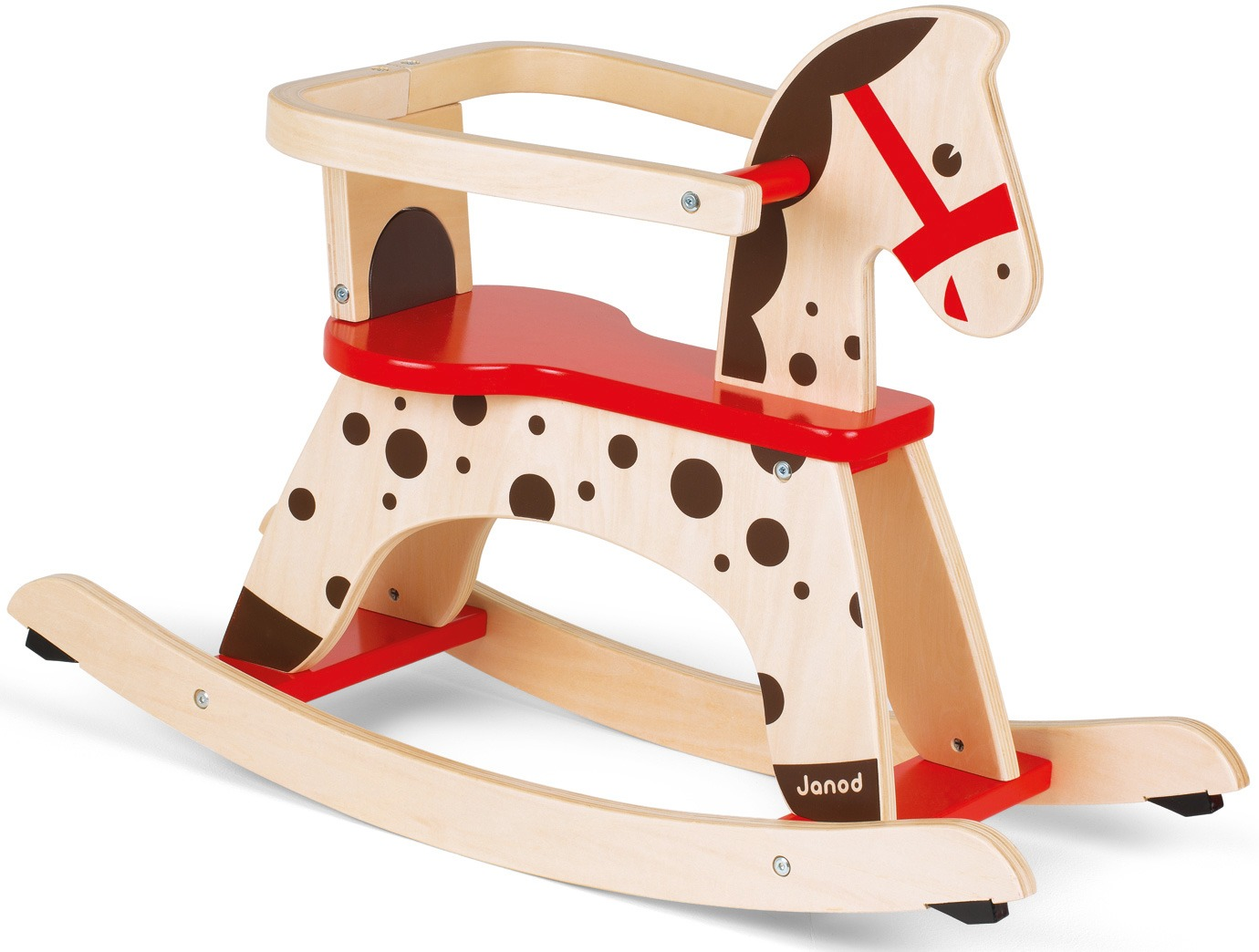 janod french rocking horse childkids wooden activity toy bnib -
