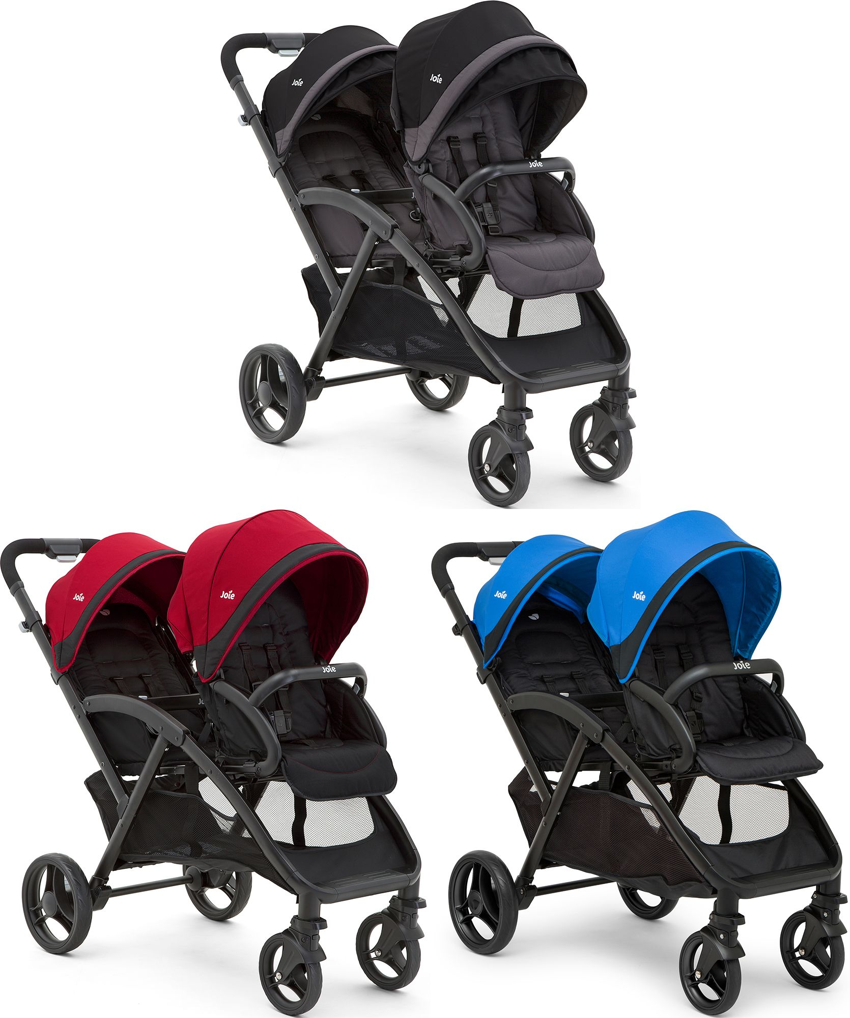 joie evalite duo twin stroller double buggy pushchair baby. Black Bedroom Furniture Sets. Home Design Ideas