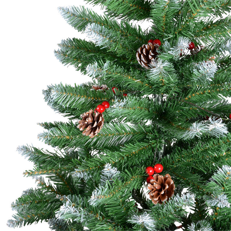 Lowes Xmas Lights 4ft 5ft 6ft 7ft Green Artificial Snow Tip Christmas Xmas Tree