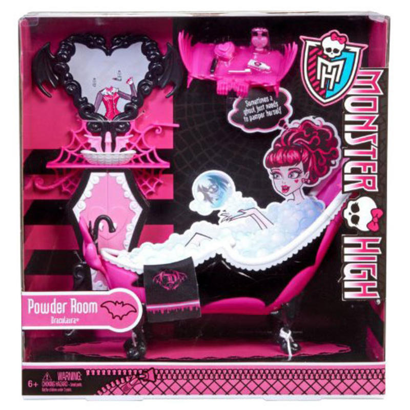 childrens monster high draculaura powder bathroom bath. Black Bedroom Furniture Sets. Home Design Ideas