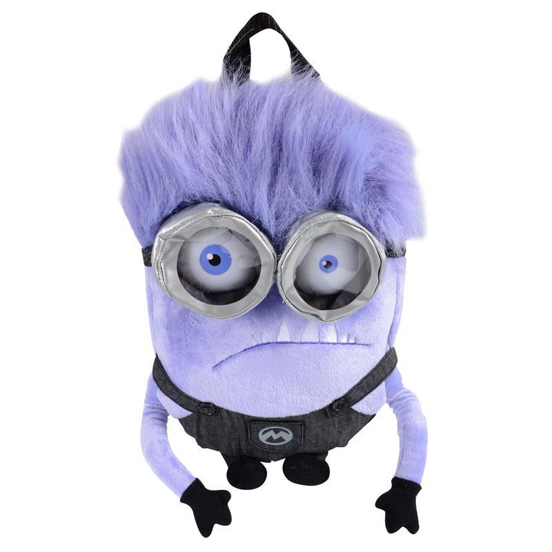 Childrens Despicable Me 2 Purple Minion Plush Back Pack Bag | 800 x 800 jpeg 58kB
