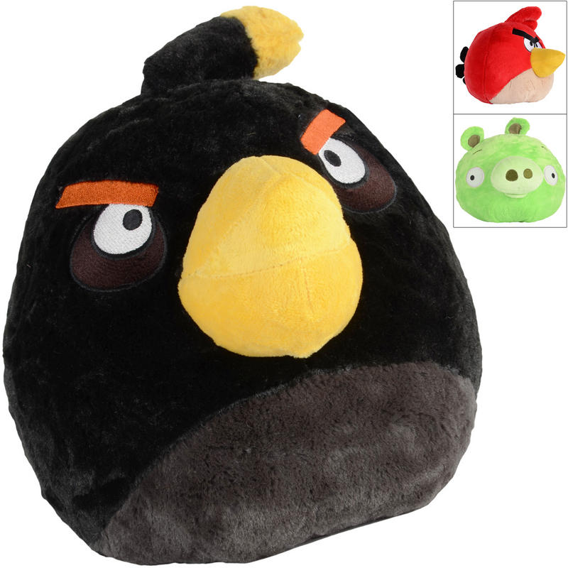 plush angry birds toy red bird black bird or green pig age 0