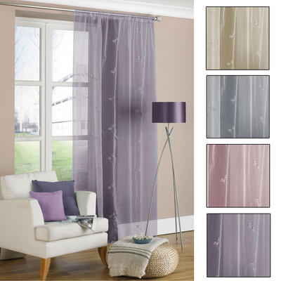 Allium Voile Pannel Stylish Curtain With Sequins New