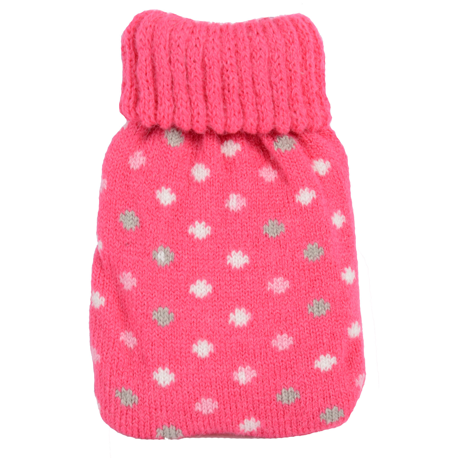 Mini Hand Warmer Gel Pack With Knitted Cover Winter Warmer Hot Water Bottle N...