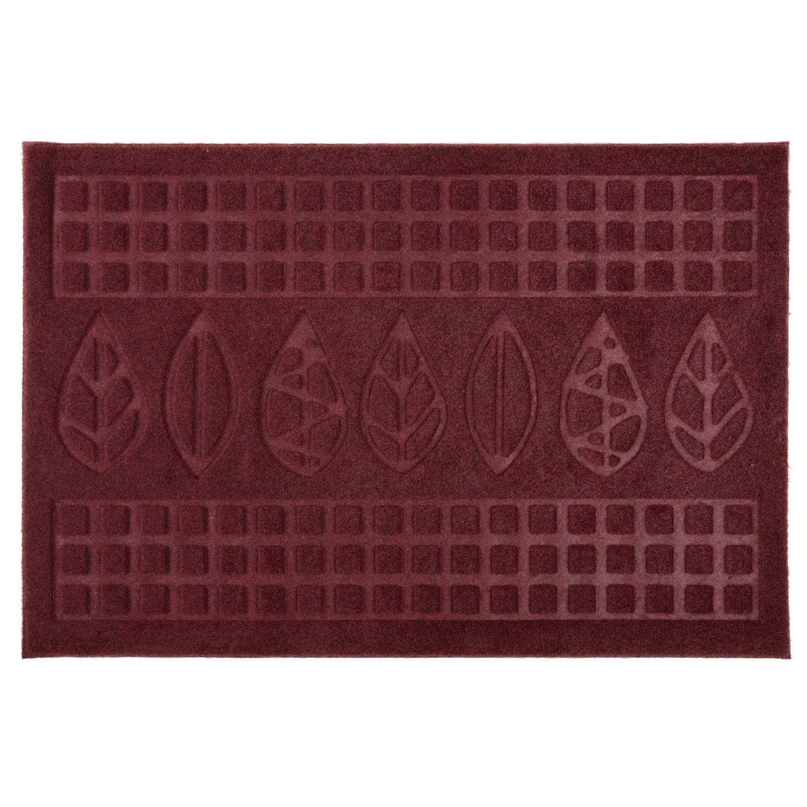 Door mat with leaves leafs design rubber welcome entrance for Floor mat design