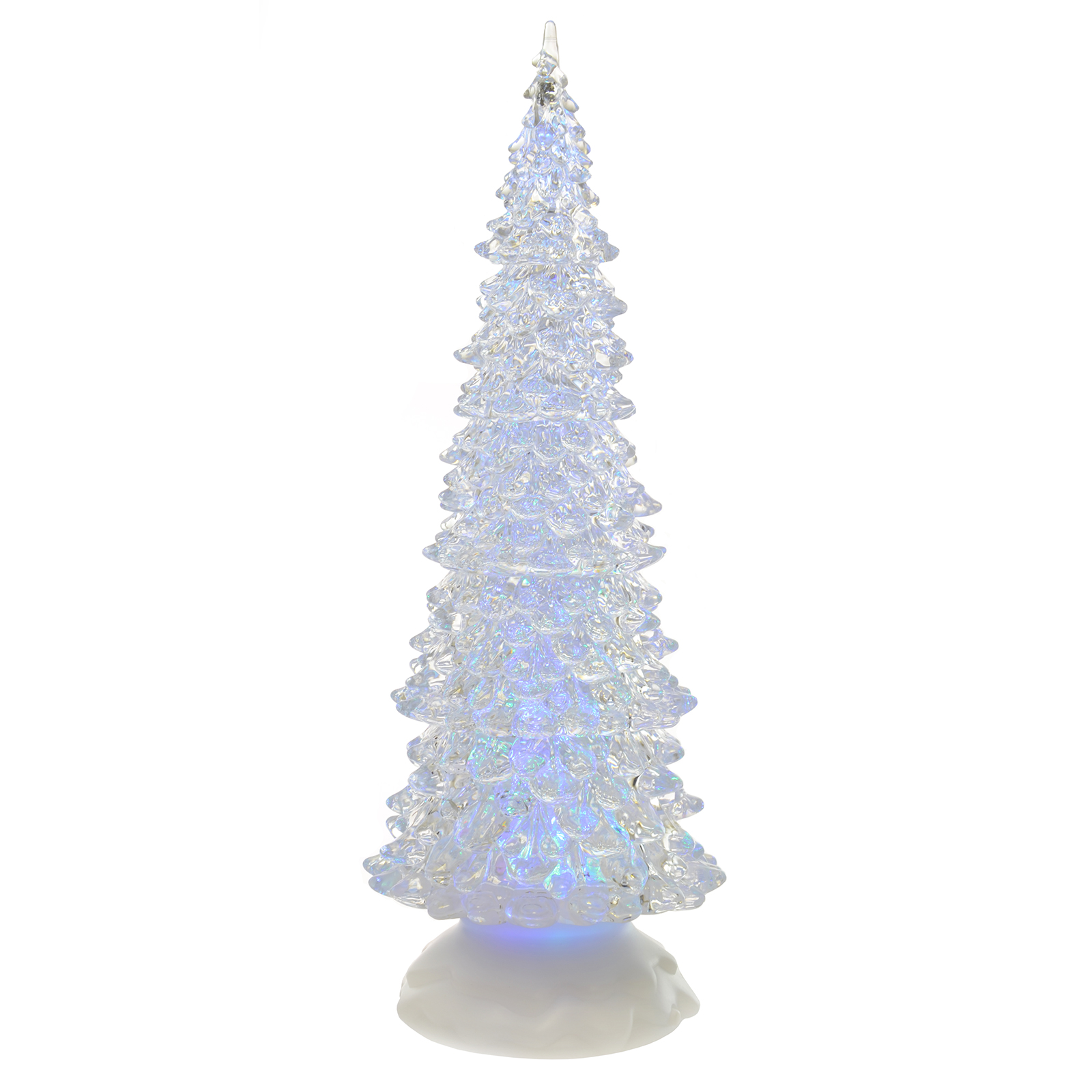 Colour changing led light glitter water christmas ornament for Light up christmas decorations