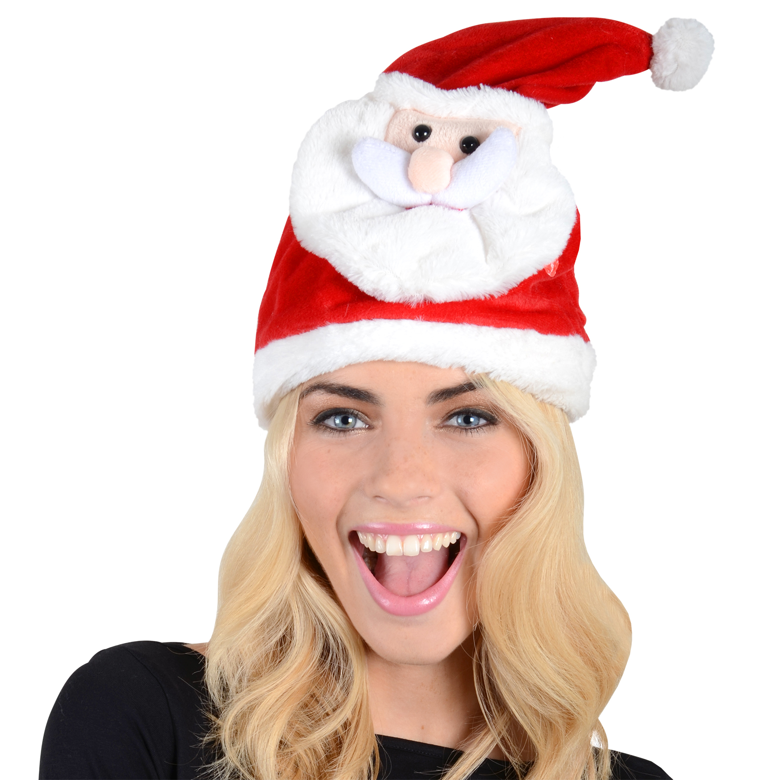 Funny dancing novelty santa hat plays you make me wanna