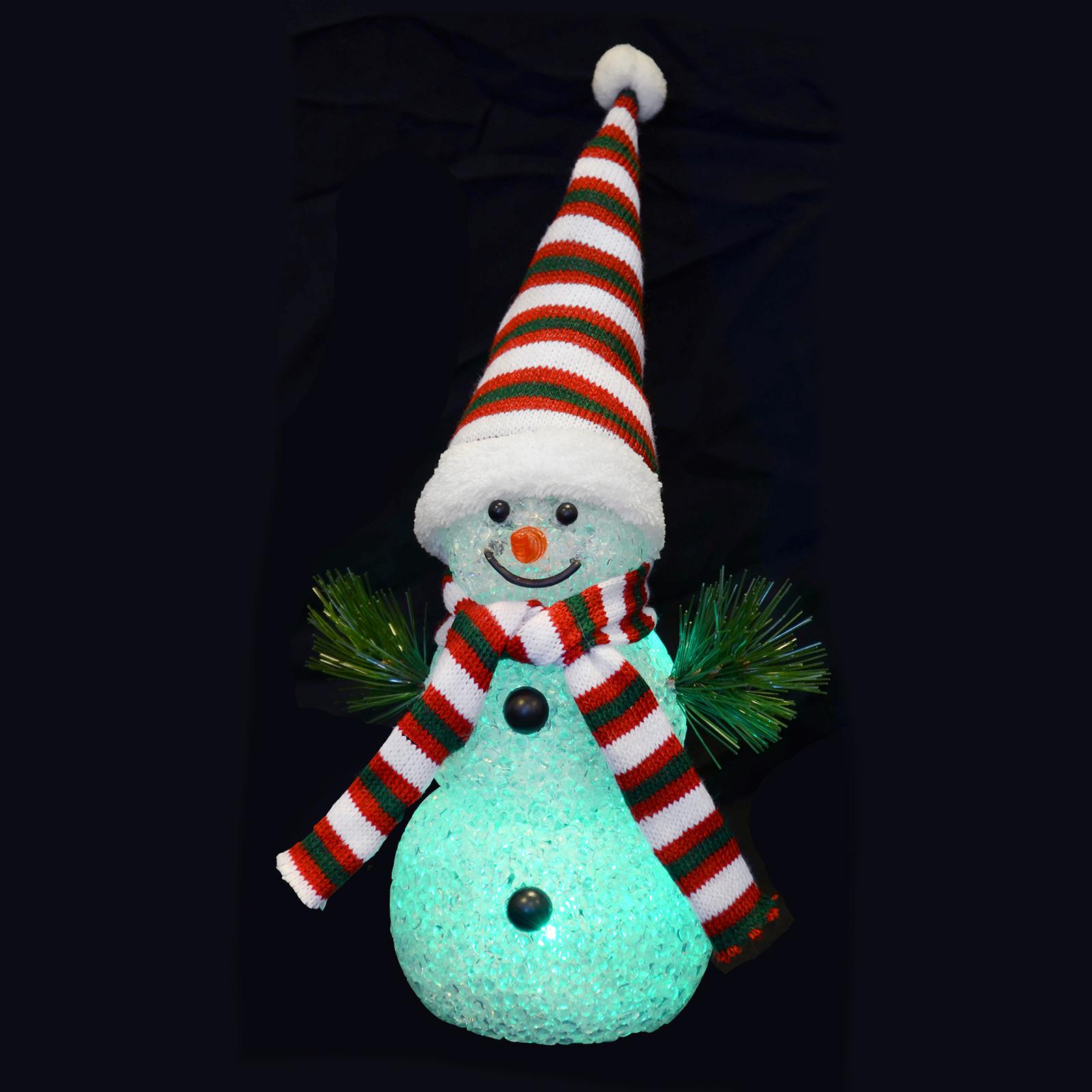 Light Up Parcels Christmas Decorations Argos: 18cm Light Up Snowman Colour Changing Multi LED Christmas