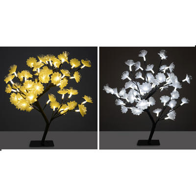 45cm Fibre Optic LED Cherry Flower Tree Christmas Decoration