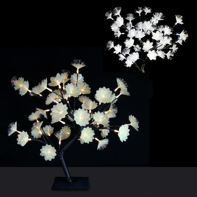 45cm Fibre Optic LED Cherry Flower Tree Christmas Decoration