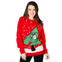 Unisex Adults Christmas Tree Knitted Novelty Jumper