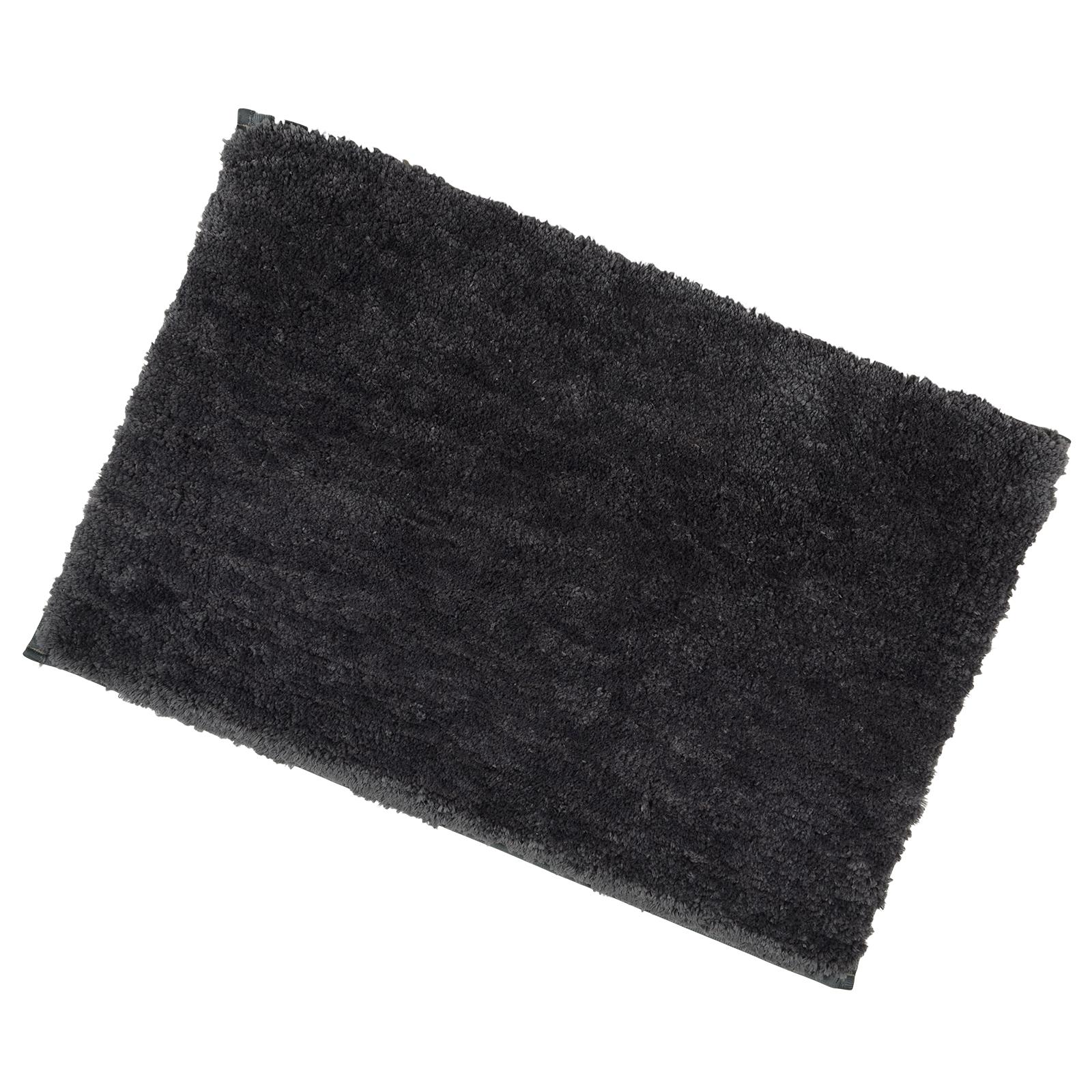 40x60cm slate tufted microfibre shower bath mat rug non slip backing bamboobliss. Black Bedroom Furniture Sets. Home Design Ideas