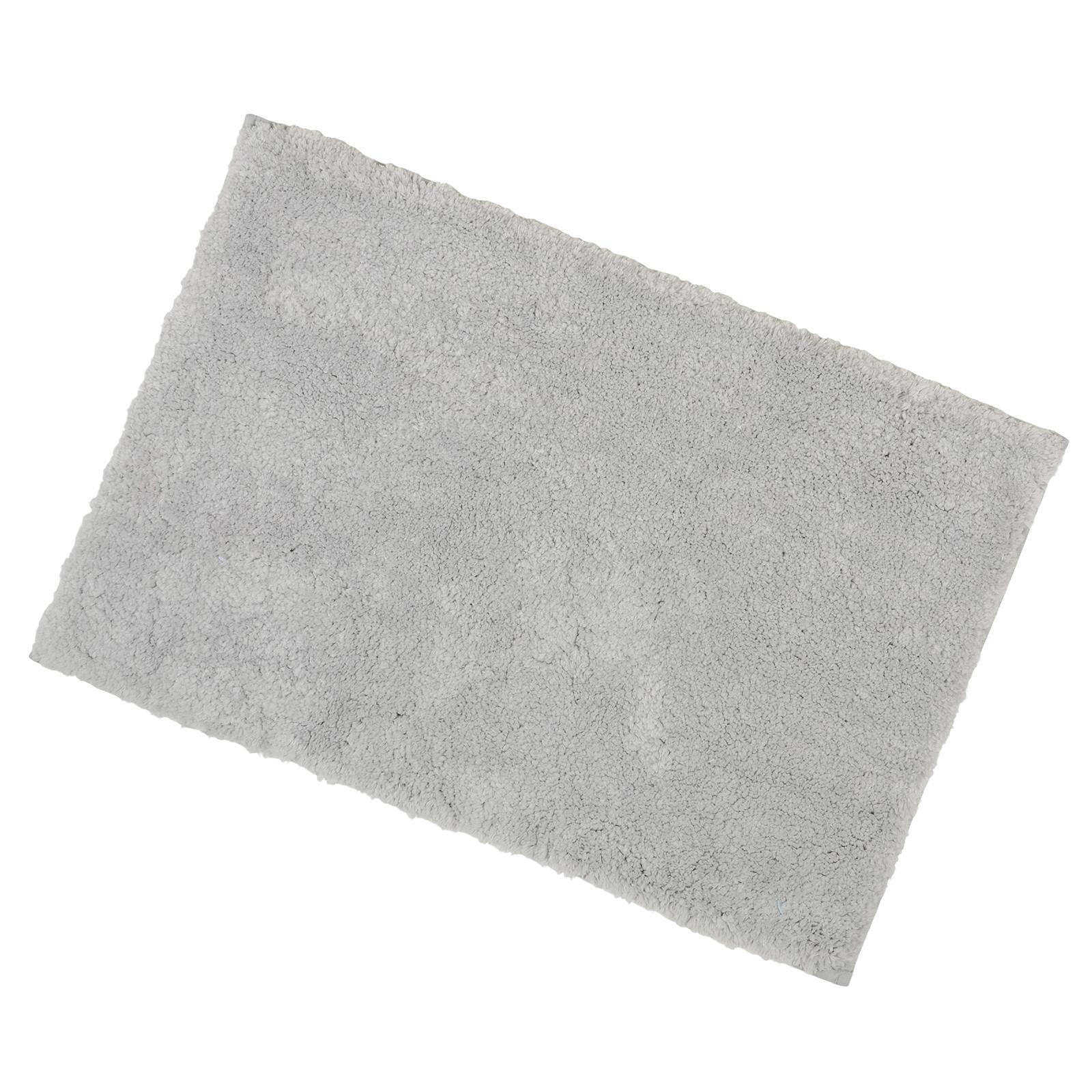 40x60cm Grey Tufted Microfibre Shower Bath Mat Rug Non Slip Backing Bamboobliss