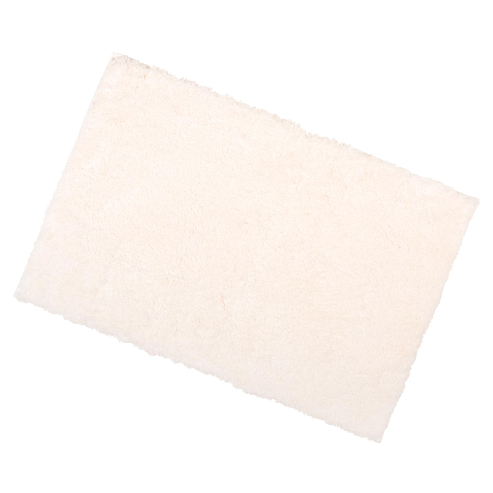 40x60cm ivory tufted microfibre shower bath mat rug non slip backing bamboobliss. Black Bedroom Furniture Sets. Home Design Ideas