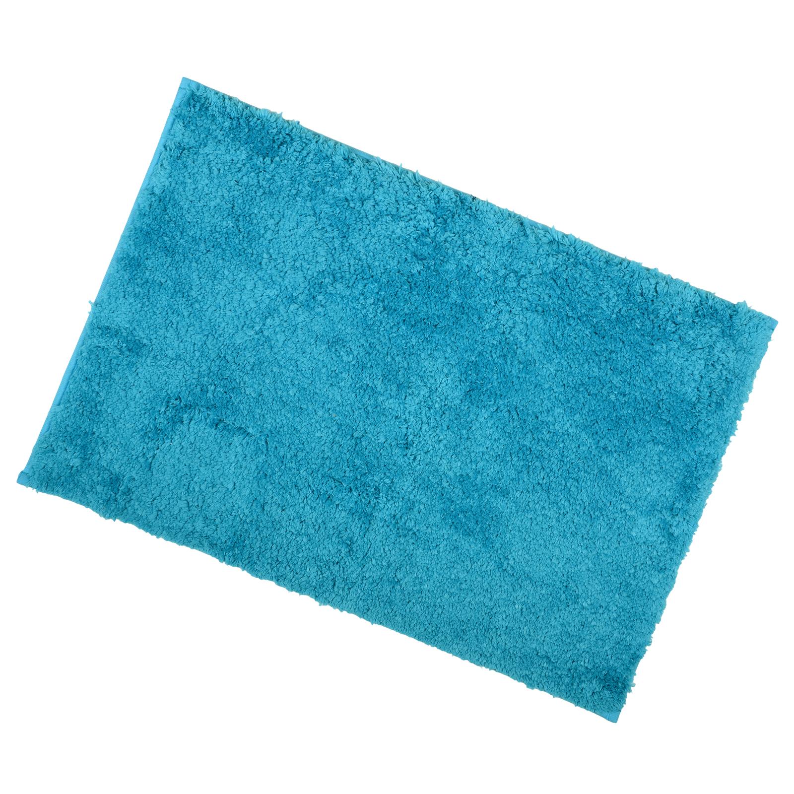 luxury microfibre tufted bath mat with anti slip backing bathroom shower rug ebay. Black Bedroom Furniture Sets. Home Design Ideas