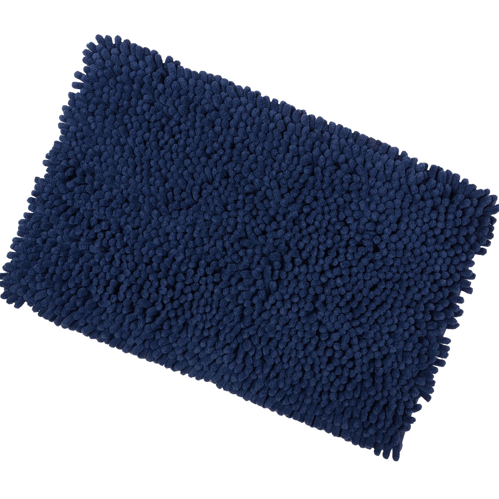 Luxury Microfibre Shaggy Bath Mat With Anti-Slip Backing Bathroom ...