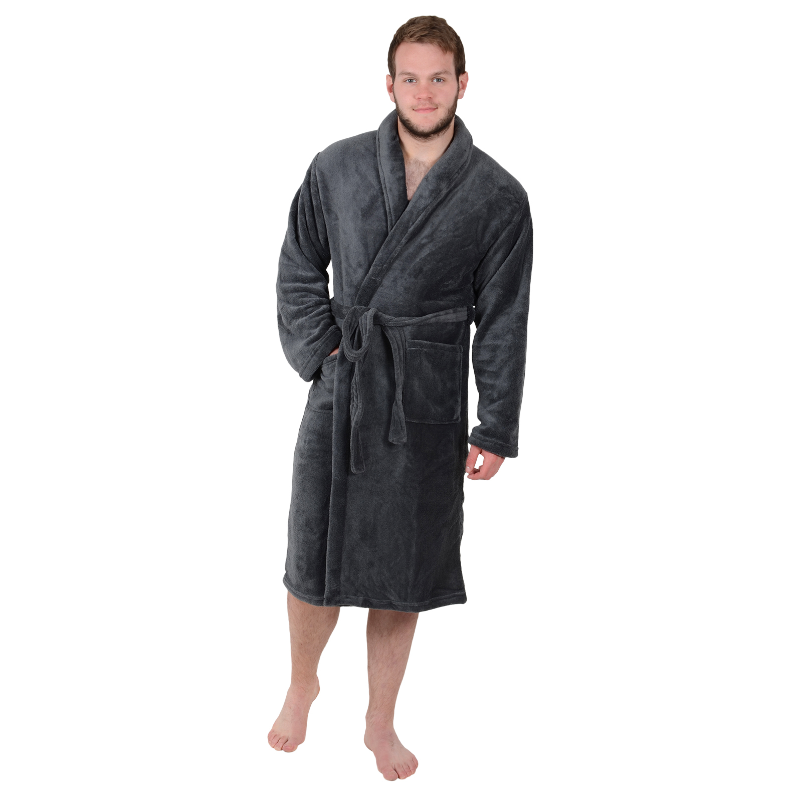 Step out of the shower, and wrap yourself in luxurious softness with the Haven Rustico Robe. The soft cotton robe features a self-tying belt and 2 roomy patch pockets. Can also be .