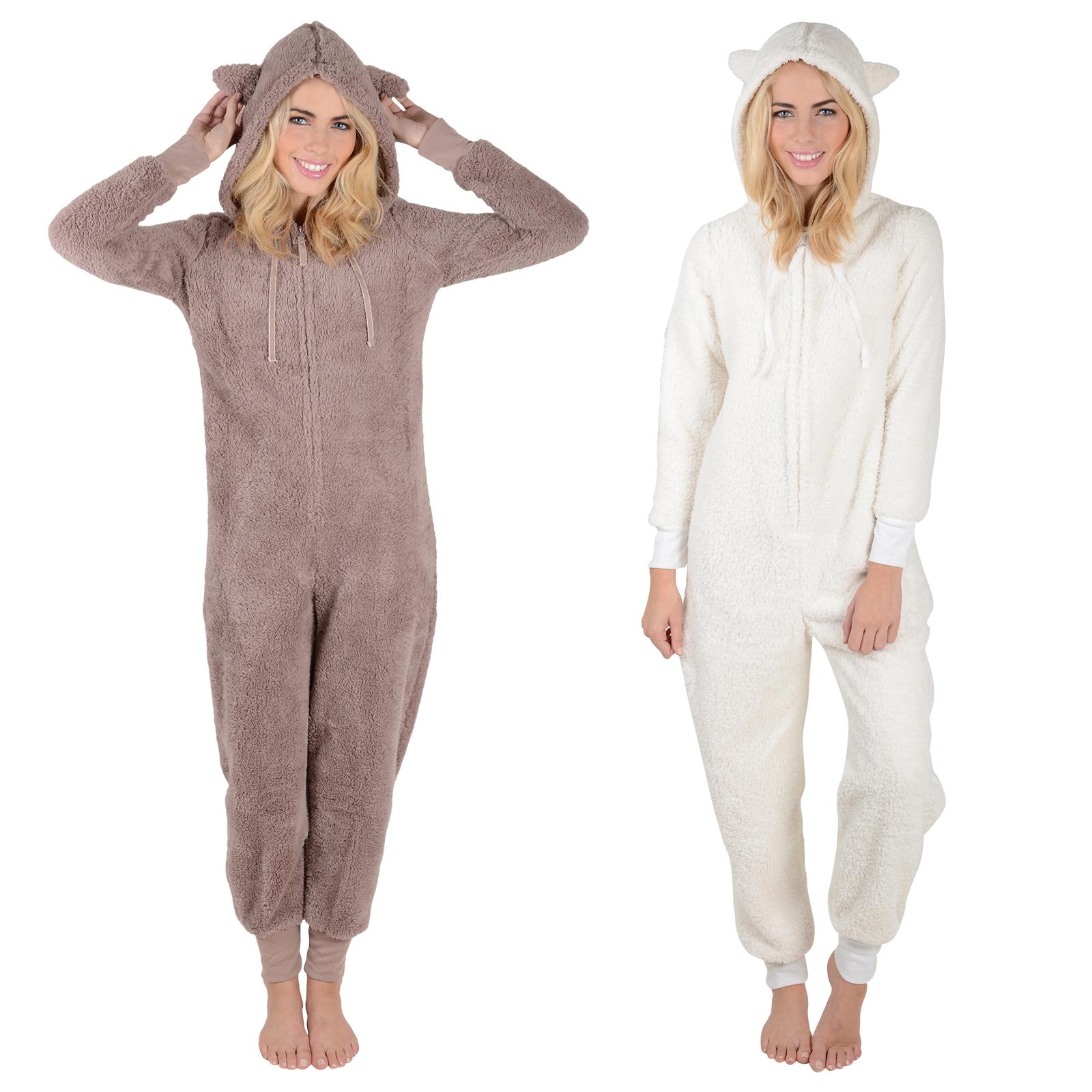 Adults Fleece All In One Pyjamas Onesie PJs Ladies / Mens Nightwear onesiewow5