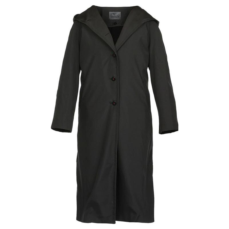 Ladies adolfo dominguez designer black hooded raincoat uk 6 26 for Adolfo dominguez womens coats