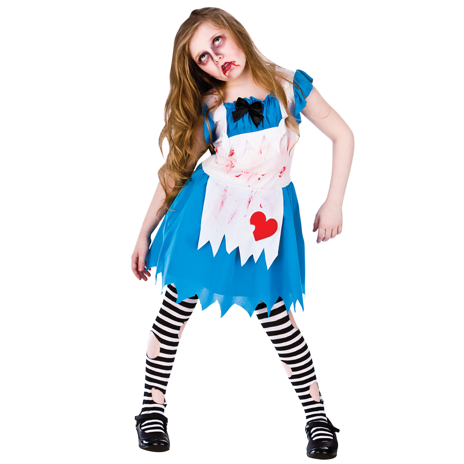 Alice In Zombieland Wonderland Fancy Dress Up Scary Horror Costume Outfit New | EBay