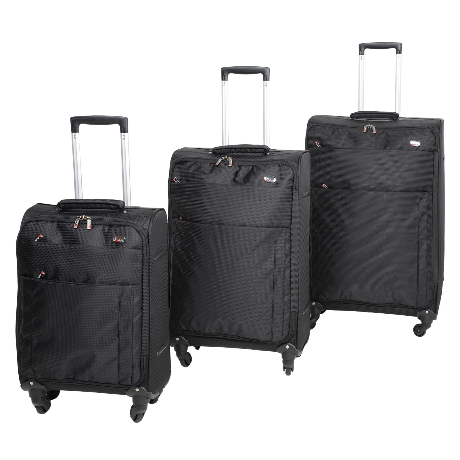 "Black 19"" 24"" 28"" Lightweight Trolley Suit Case ..."