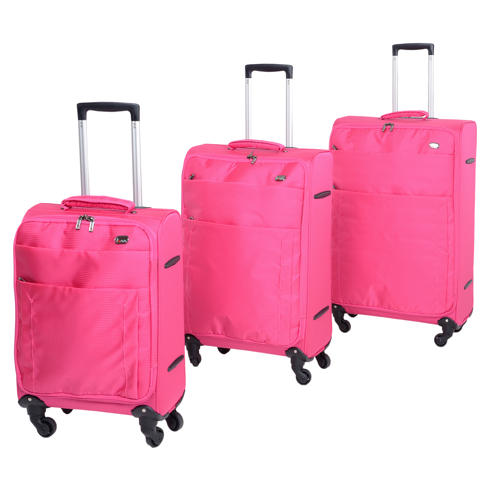 "Pink 19"" 24"" 28"" Lightweight Trolley Suit Case ..."