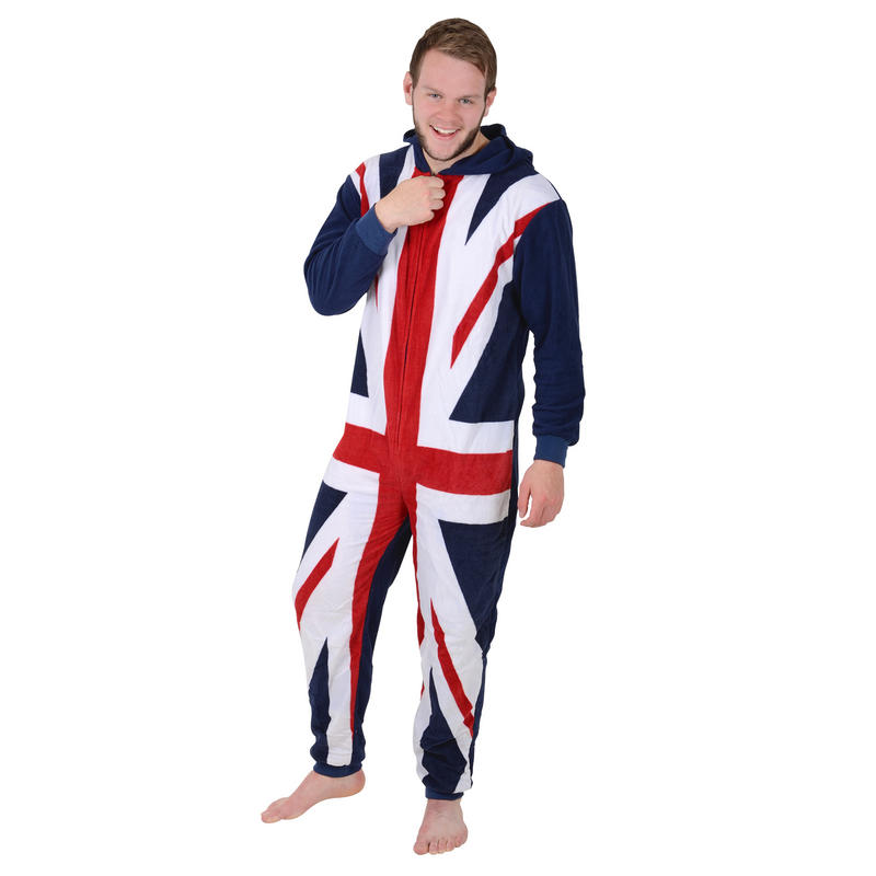 Mens Onesie is you Warm this Winter Union Jack Design has a Hood A Unisex Black Baby Grow With the wording Somebody in england loves me and an image of the union jack flag. A unique Birthday, Christening or Christmas stocking filler gift idea for new babies bodysuit, Onesie ( months).