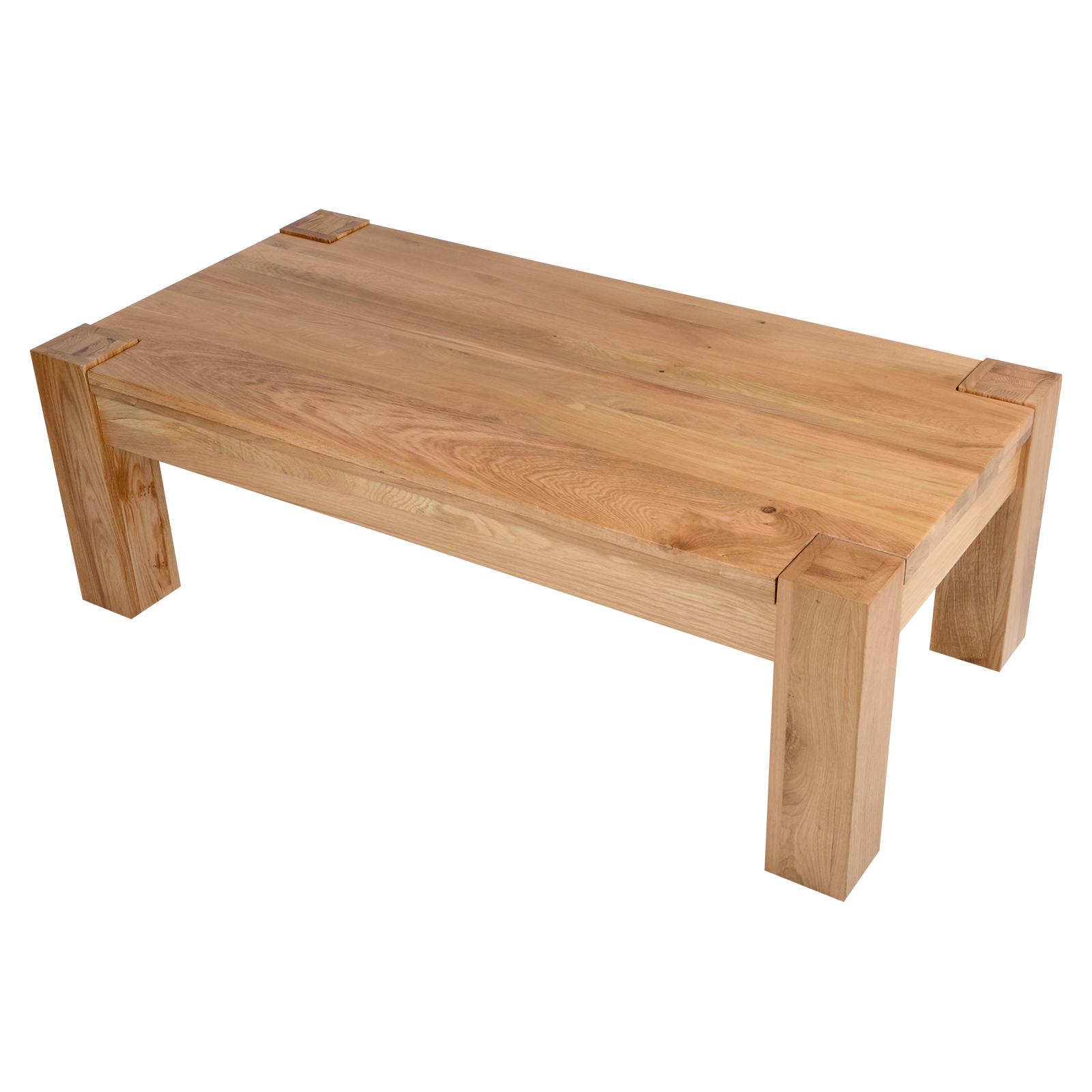 Balmoral Sold Oak Rectangular Coffee Table Chunky Wooden Living Room Furniture Ebay