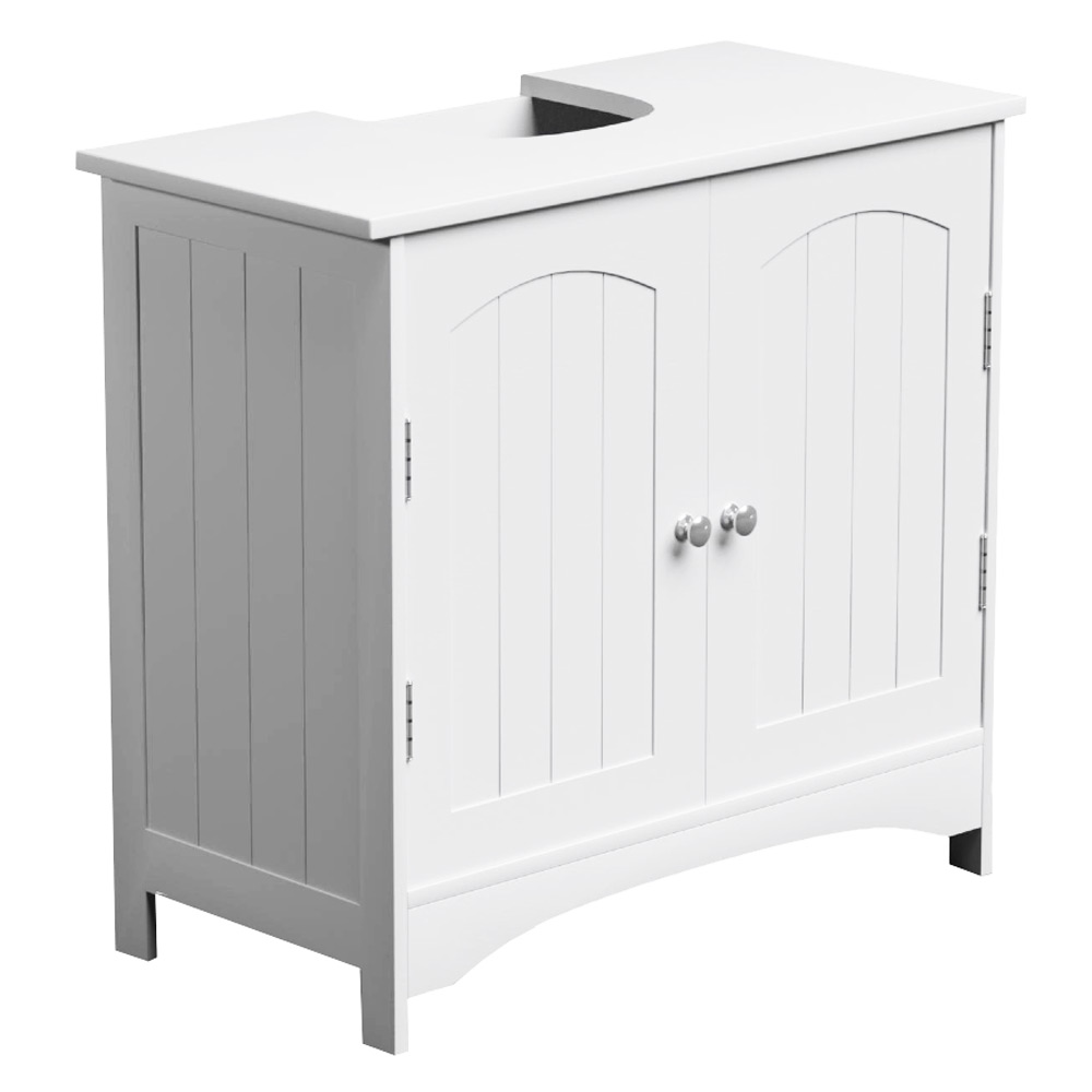 white under basin bathroom cabinet toilet storage cupboard sink ebay