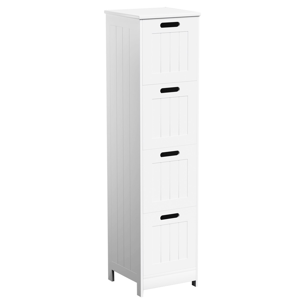 Riana richmond white 4 drawer bathroom storage chest for White bathroom chest
