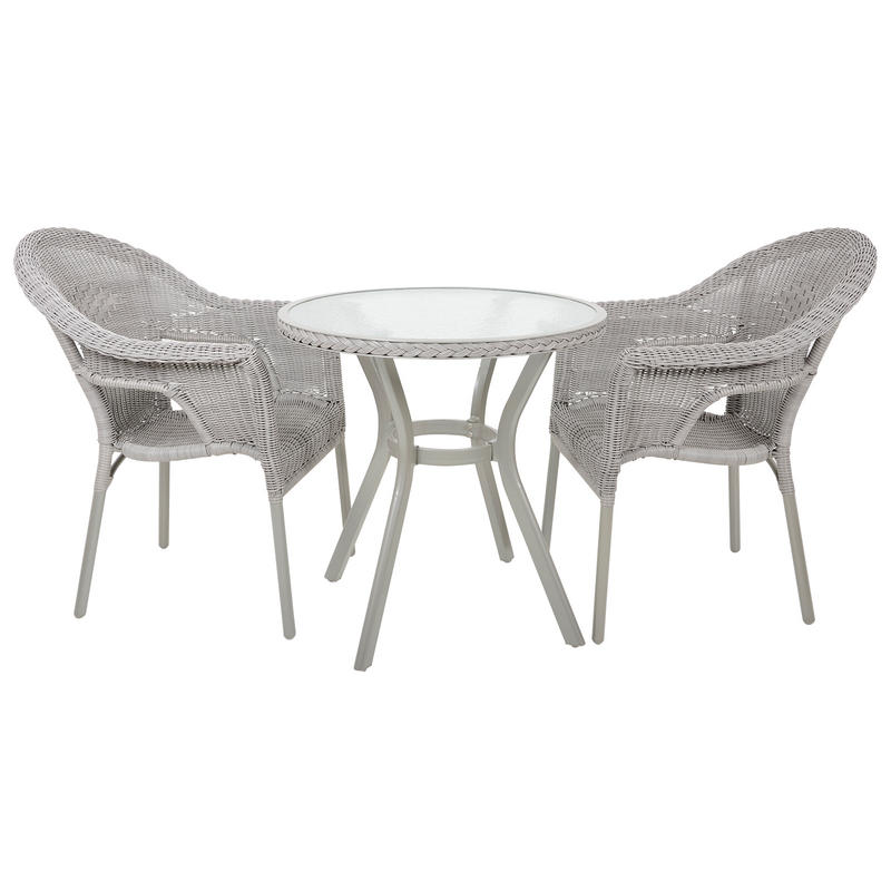 Havana rattan bistro 2 seat garden furniture table for Garden table and chairs set