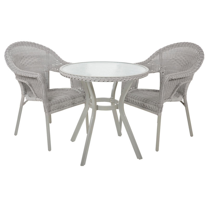 havana rattan bistro 2 seat garden furniture table chairs set. Black Bedroom Furniture Sets. Home Design Ideas
