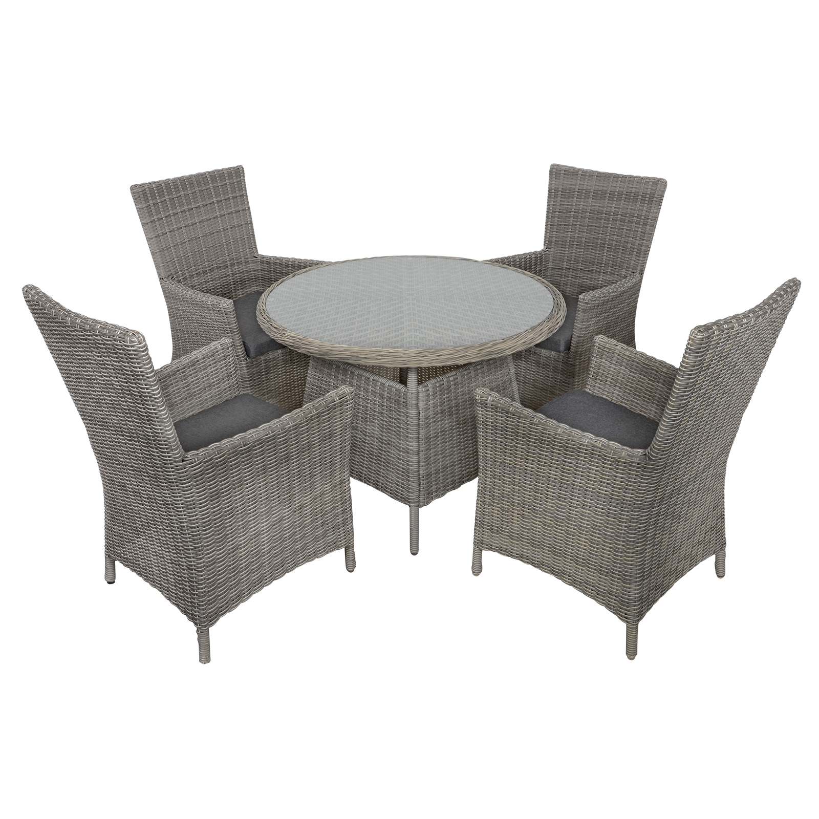 Rattan Dining Table And Chairs: Belize Rattan Wicker 4-Seat Garden Patio Furniture Dining