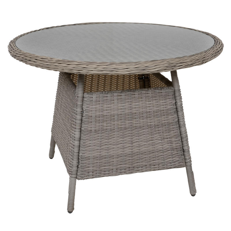 Belize rattan wicker 4 seat garden furniture table for 108 table seats how many
