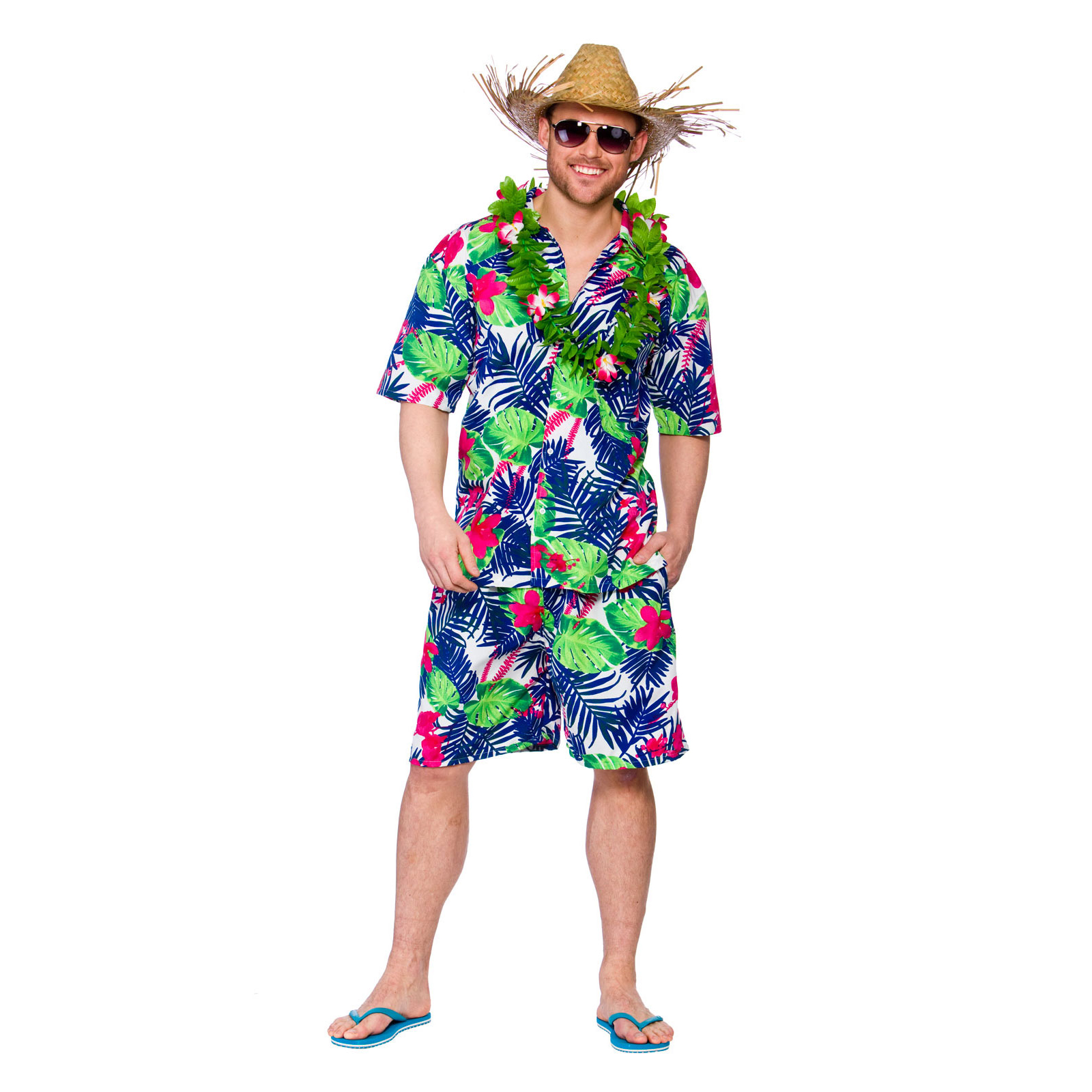 Funny Hawaiian Party Guy Shirt u0026 Shorts Fancy Dress Up Party Costume Outfit New | eBay