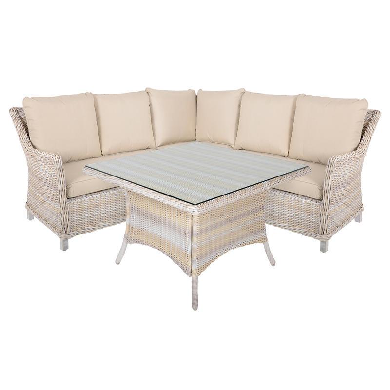 Corner Sofa Set For Garden: Barbados 4 Piece Rattan Wicker Garden Furniture Corner