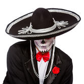 Adult Black Sombrero Hat Fancy Dress Accessory
