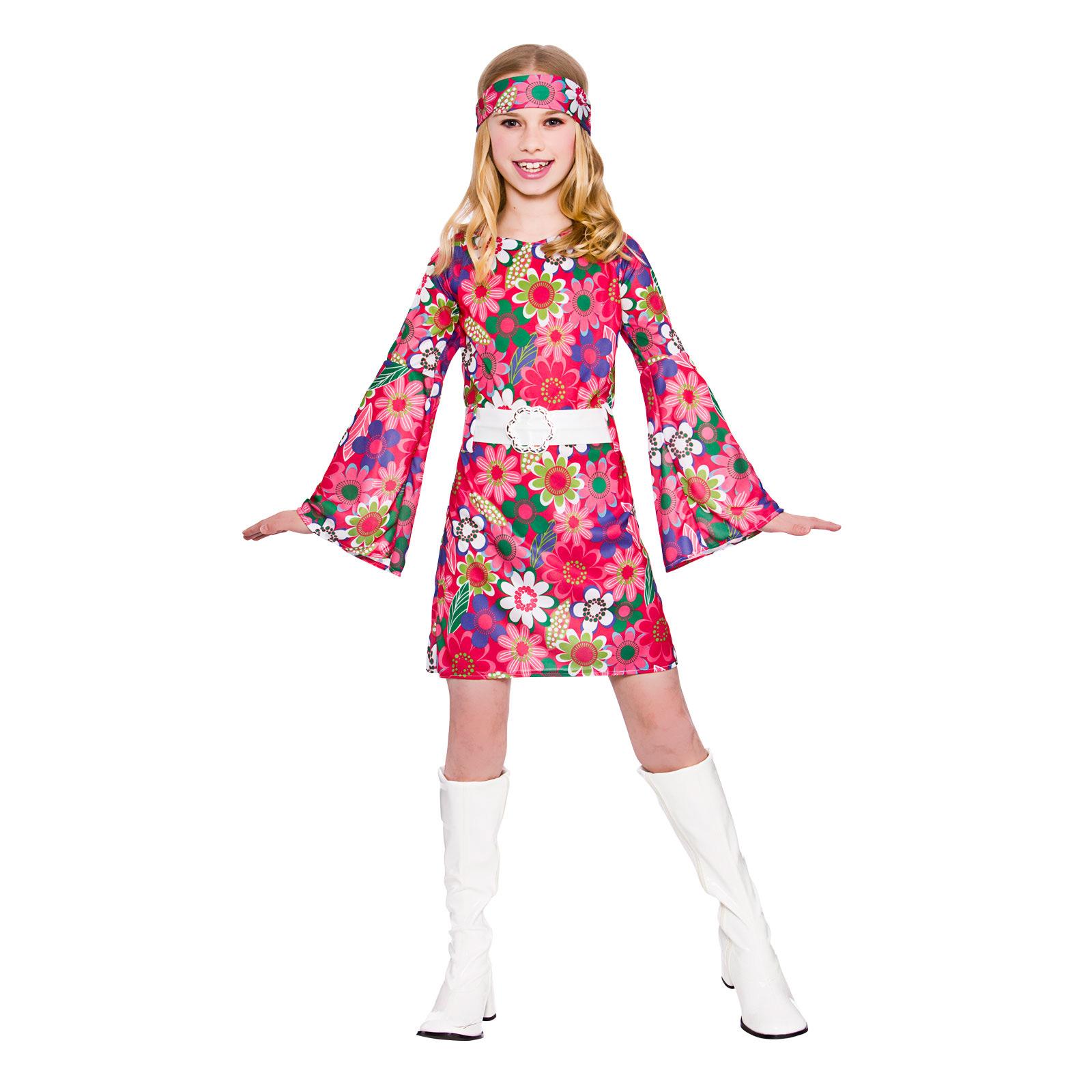 girls retro go go girl fancy dress up party costume