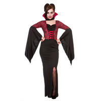 Ladies Alluring Vampiress Fancy Dress Halloween Costume