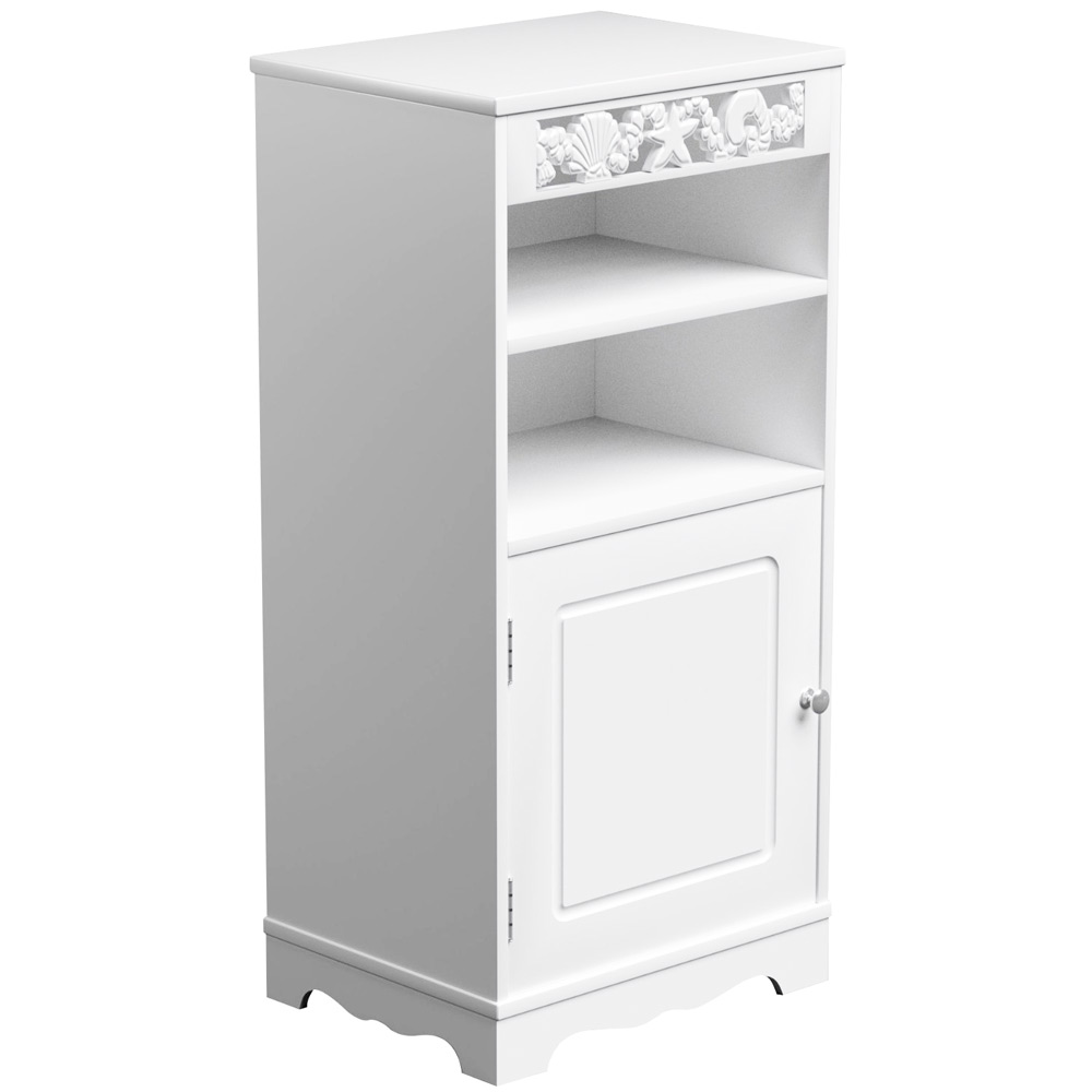 Riana St Tropez White Utility Bathroom Cabinet Toilet Storage Cupboard Shelves Ebay