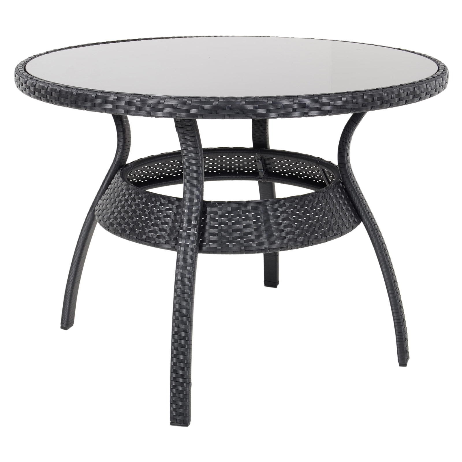 Rattan Dining Table And Chairs: Ravenna Dining Table 4 Chairs Black Rattan Wicker