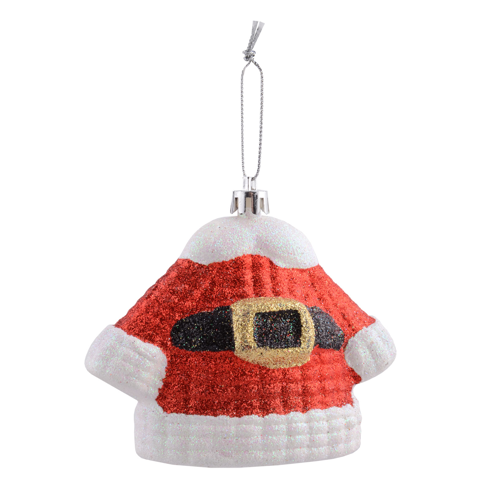 Red Glitter Christmas Tree Decorations : Red glitter santa hanging christmas tree decorations